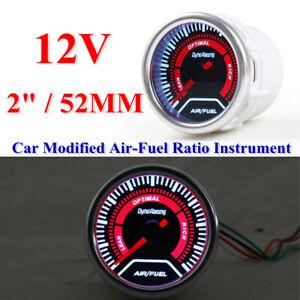 Car Modified Air-fuel Ratio Meter Instrument 52MM Racing General 12V Gauge Parts