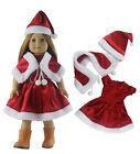 Doll Clothes FOR 18'' American Girl Christmas Xmas Costume Uniform Dress Skirt