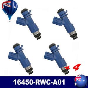 4x Fuel Injectors 16450-rwc-a01 Fit For Acura RDX RSX K24 K20 B18 B16 K Series