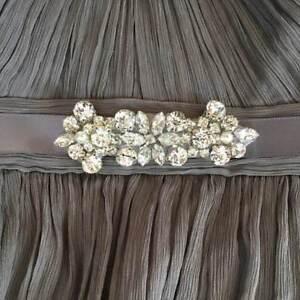 Small Crystal Bridal Sash Rhinestone Wedding Belt Bridesmaid Prom Dress Belt