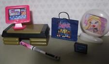 Bratz Fashion Girl Doll Furniture Computer TV Gym Stepper Baseball Bat Bag Lot