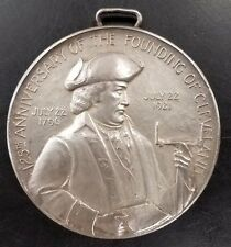 1921 125th Anniversary, Founding of Cleveland, silvered bronze medal! MACO!