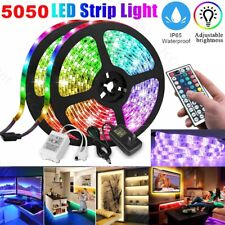 1/2/5M RGB 5050 LED Strip Light Remote Kit Fairy Lights TV Wall Room Bar Party