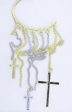 cuff earring, punk Hanging cross and chain