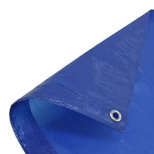1 x Blue Tarpaulin Standard Duty 80gsm 3.5m x 4.5m (12ft x 15ft)