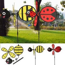 B.umble Bee / Ladybug Windmill Whirligig Wind Spinner Home Yard Garden Decor