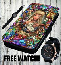 Alice in Wonderland Leather Mobile Phone Cases, Covers & Skins for Samsung