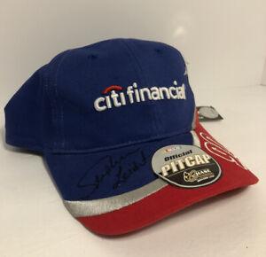 Autographed NASCAR Stephen Leicht 90 Citi Financial Hat Pit Cap Robert Yates New