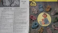 Patons Knitting & Crochet Pattern Book C.19 - DIFFERENT BOOTEE DESIGNS - BABY