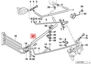 Genuine BMW E38 Sedan Power Steering Radiator Return Hose OEM 32411091976