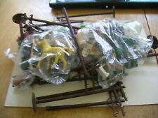 COLLECTION OF VTG HO SCALE TRACK FIGURES,ANIMALS SCENERY WEIRD HEADSTONES ETC