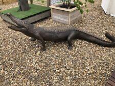 Lifesize Bronze Crocodile Statue Casting Alligator Reptile