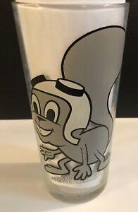 Super Rare Pepsi Collector Series 1970s Rare Grey Rocky Drinking Glass P. Ward