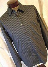 EXCELLENT Hugo Boss Lucas Regular Fit Mens Dark Blue Striped Button Shirt XL