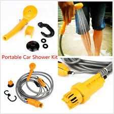 Portable DC 12V Car Outdoor Camper Water Pipe Shower Head Nozzle Body Pet Washer
