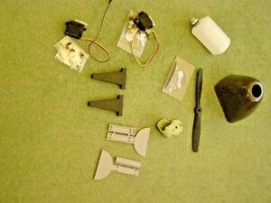 Deagostini Spitfire RC Model Plane Parts - Cowl, Tank, Spats, Servos, Spinner