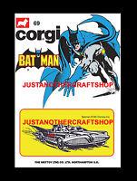 Corgi Juniors Batman Batmobile 69 A3 Size Poster Advert Leaflet Shop Sign 1974