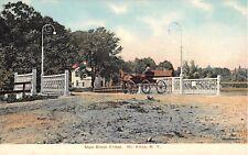 c.1908 Buggy on Main St. Bridge Mt. Kisco NY post card Westchester county