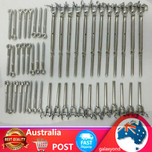 12 Pack 316 Stainless Steel Balustrade Kit Jaw Swage Bottlescrew Wire Rope Kit