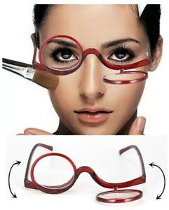 Schminkbrille Schminkhilfe, Make up, 2 Gläser umklappbar - Dioptrien  ZSB
