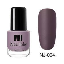 NEE JOLIE 3.5ml Matte Nail Art Polish  Purple Pink Green Oily Nail Varnish