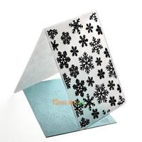 Plastic Snowflake Embossing Folder Template Scrapbook Card DIY Christmas Decor