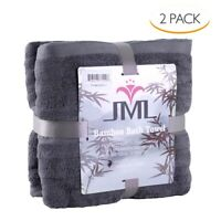 """2 Pack Bamboo Towels Bath Towel Extremely Soft W/Laundry Bag 54"""" x 27"""""""