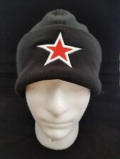 3D Puff Star Embroidered Beanie Micro Fleece Hat
