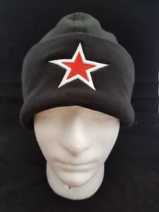 Embroidered Beanie Micro Fleece 3D Puff Star Hat