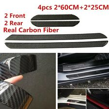 4 Pcs Real Carbon Fiber Car Scuff Plate Door Sill Cover Panel Step Protector