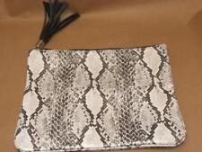 BERGDORF GOODMAN Faux Snakeskin LRG Makeup Cosmetic Travel Bag Tassel Pre-owned