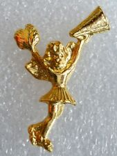 Cheerleader Angel pin, gold plated