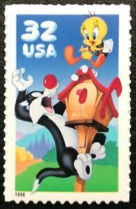 1998 - Scott# 3204a - 32¢ - TWEETY & SYLVESTER - Booklet Single - Mint NH