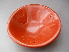 MAKE OFFER!!! Vintage UNSIGNED Santa Clara BEARPAW Red Pottery Bowl! SUPER SALE!