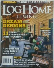 Log Home Living March 2015 Dream Designs Floor Plan Gallery FREE SHIPPING sb