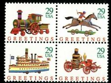 Christmas Greetings - Scott #2711-2714 Block of 4 stamps MNH