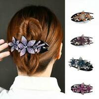 Women's Stylish Crystal Hair Clips Slide Flower Hairpin Pins Hairpin Best Gift