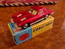 Vintage Corgi Toys   MIB   1963 Chevrolet Corvette Stingray   No. 310