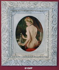 Nude Lady Framed Oleograph / Oilograph  810#P  Reproduction Picture , Art