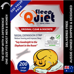 SleepQuiet Nasal Strips Clear Anti Snore Breathe better Stop Snoring Nose Strip