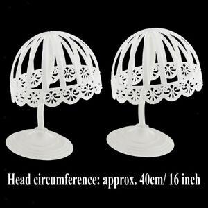 2x Baby Hat Cap Display Storage Holder Hair Wigs Drying Rack Shelf Stand