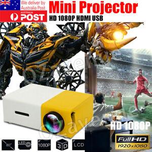 Portable Mini Pocket Projector LED Home Cinema HD 1080P HDMI USB AU STOCK