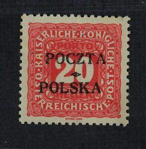 CKStamps: Poland Stamps Collection Scott#J4 Mint LH OG Signed