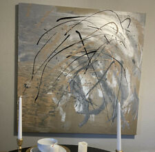 """Precious Metals"" Oil Based Abstract Painting By Binoshima"