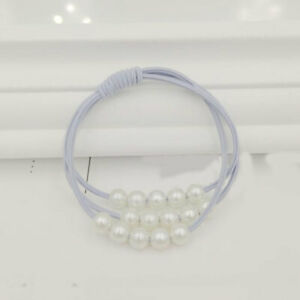 Fashion Pearl Elastic Hair Bands Multilayer Knot Hair Ring Ponytail Rubber Band
