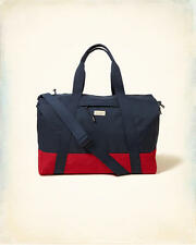 HOLLISTER  WEEKENDER-TOTE-DUFFLE-CARRY ON-GYM-SCHOOL BAG-NAVY/RED *NEW*