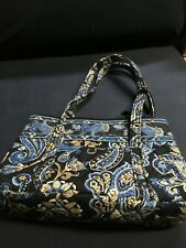 Vera Bradley purse, black w/blue design