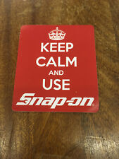 Red Snap-On Tools Tool Box Sticker Decal Genuine Keep Calm 7.5cm width