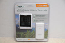 Oregon Scientific 100 Wireless Indoor and Outdoor Thermometer with LED Ice Alert