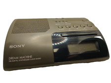 Vintage Sony Dream Machine AM FM Clock Radio Alarm ICF-C203 Tested Working